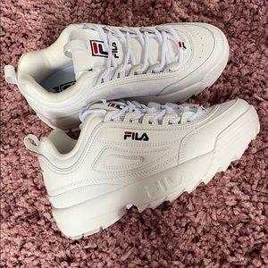 White FILA Disruptor II Premium Sneakers